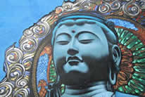blue buddha