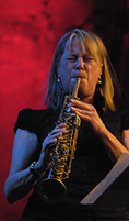 Female sax player