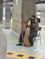 metro harpist