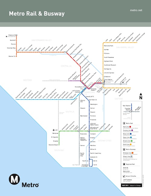 San Diego Subway Map.Los Angeles Metro Rail