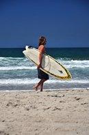 walking surfer